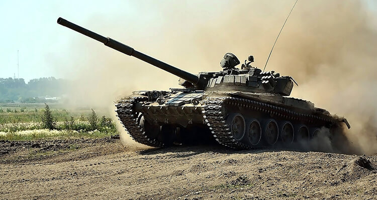 army tank in action